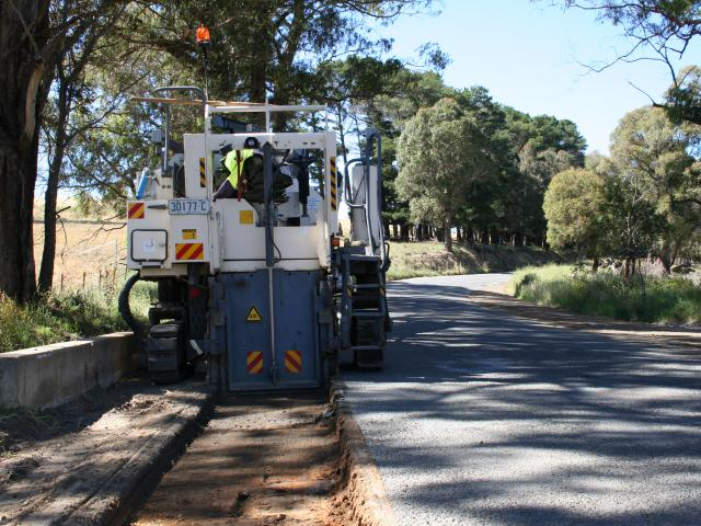 Shoulder Paving Preparation